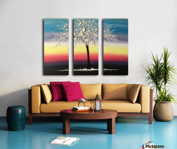 Colorful Blooms Split Canvas print