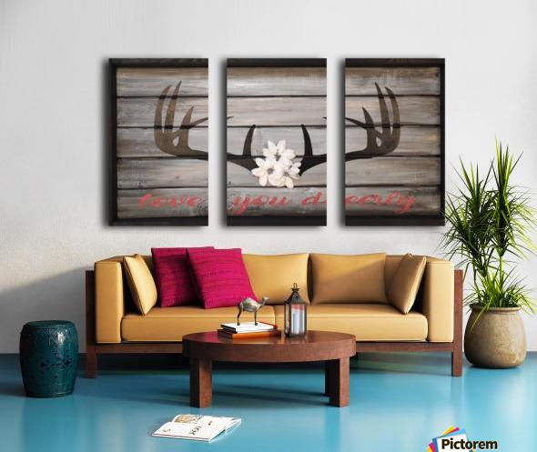 Love You Deerly Split Canvas print