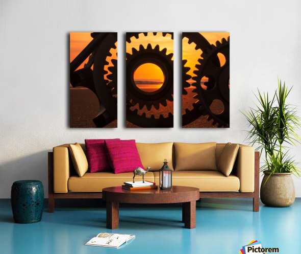 Morning ride Split Canvas print