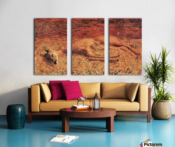 Dead deer by Albin Egger-Lienz Split Canvas print