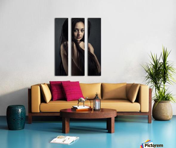 Innocent young woman Split Canvas print