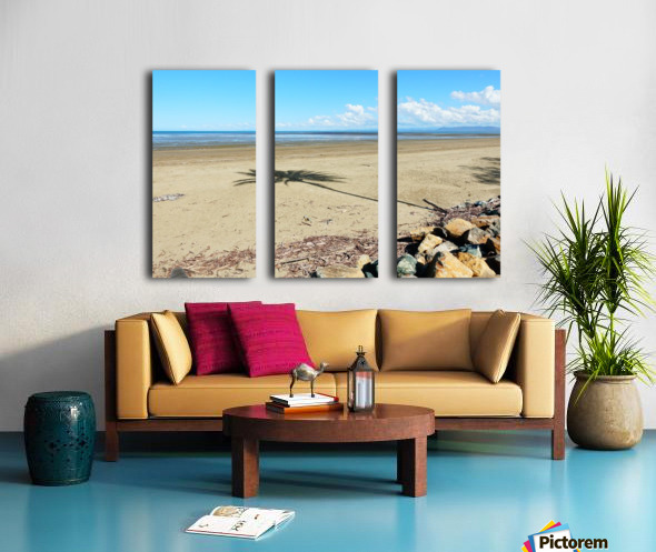 Beach Palm Tree Split Canvas print