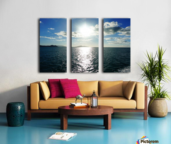 Sea Sun Split Canvas print