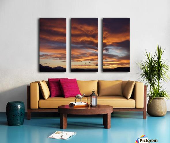 Icelandic Sunrise Split Canvas print