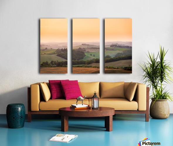 Tuscany Sunset Split Canvas print