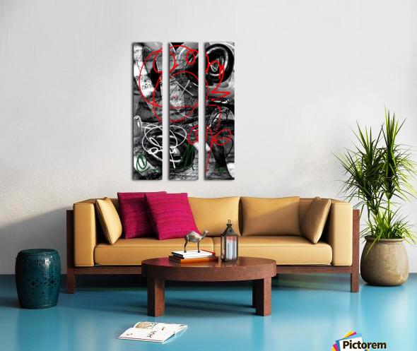 Bad Rose Split Canvas print