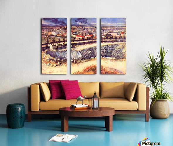 Factory by Van Gogh Split Canvas print