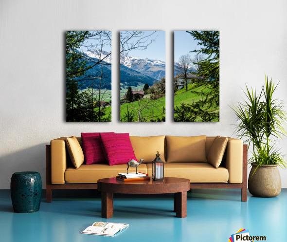 In The Alps Split Canvas print