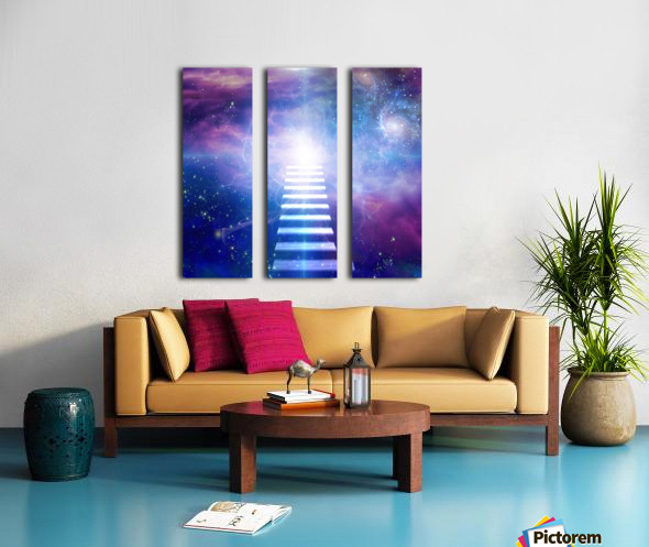 Steps up into cosmos Split Canvas print