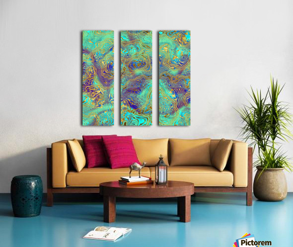 Abstract Marble I Split Canvas print