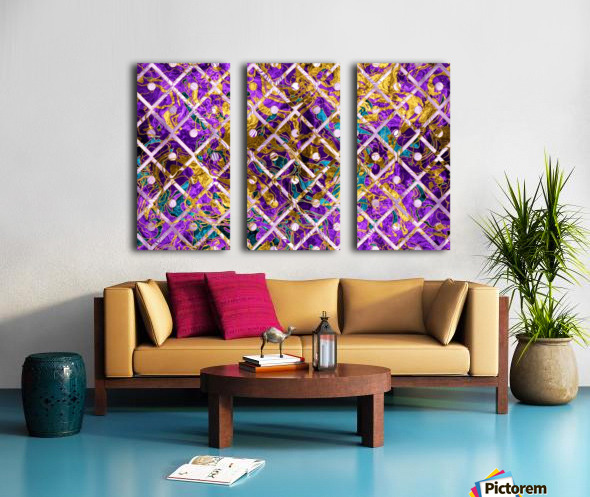 Pattern LXXXII Split Canvas print