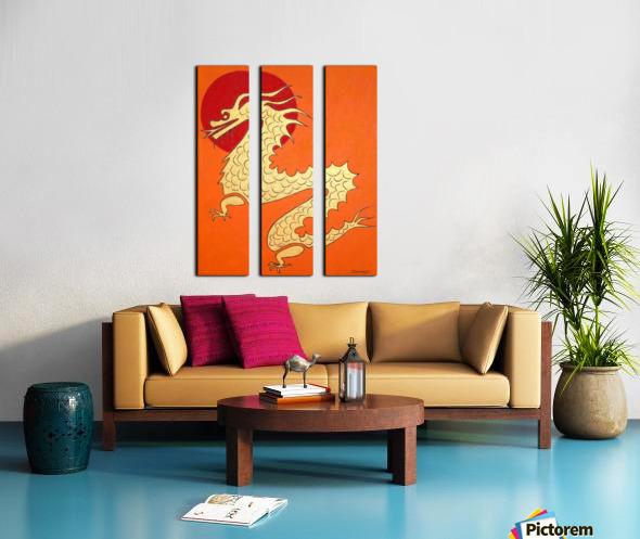 Asian Dragon Icon No.1 Split Canvas print