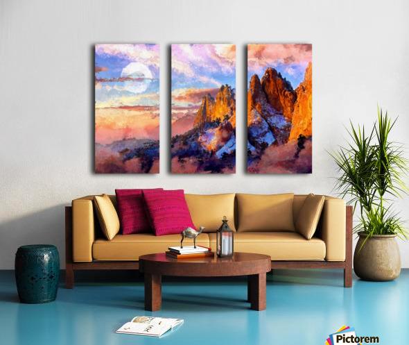 Colorado Mountains - Digital Painting III Split Canvas print