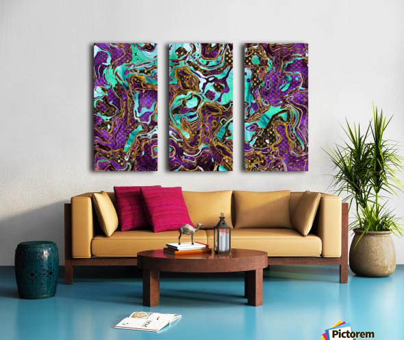 Pattern LXXVIII Split Canvas print