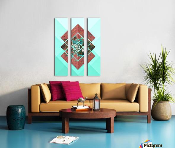 Geometric XX Split Canvas print