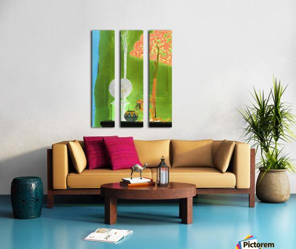 Altar to Unnamed Gods -- Kiwi Green Split Canvas print