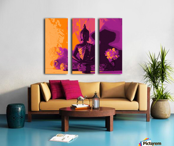 Buddha Altar -- Sunset Colors Split Canvas print