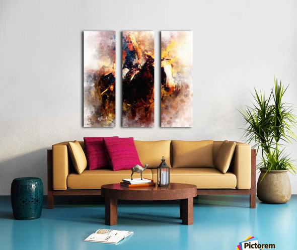 Michelle and Pi Split Canvas print