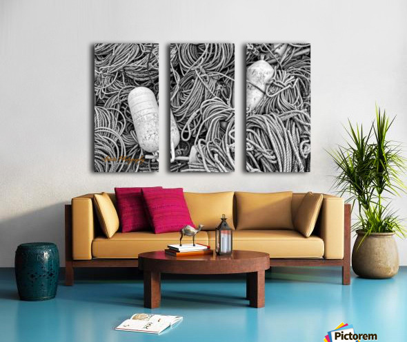 Rope & Buoys - APC-297 Split Canvas print