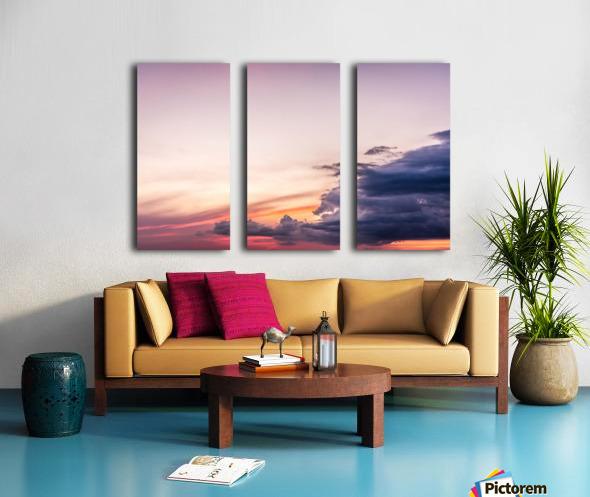 Summer Sunset Split Canvas print