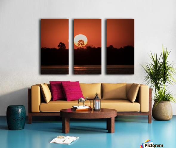 Sunset of Zimbabwe Split Canvas print