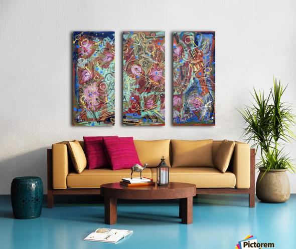 Mystic Carnival 2 Split Canvas print