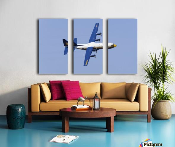A C-130 Hercules of the Blue Angels flight demonstration squadron. Split Canvas print