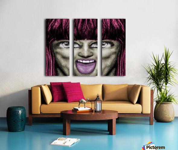 Daring Pop Teen Portrait Split Canvas print