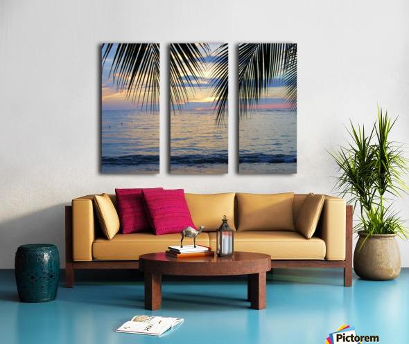 Tropical Sunset 4 Split Canvas print