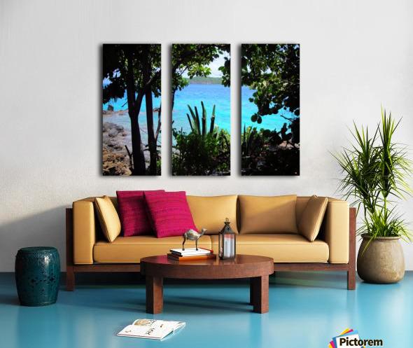 Tropical Waters 1 Split Canvas print