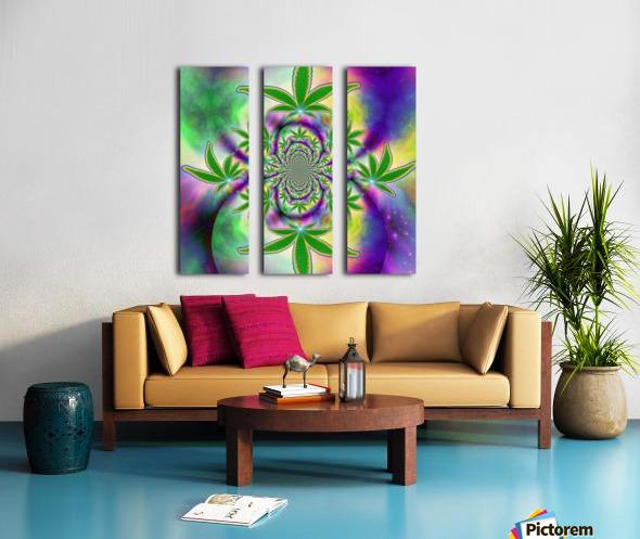 Marijuana Leaf Split Canvas print