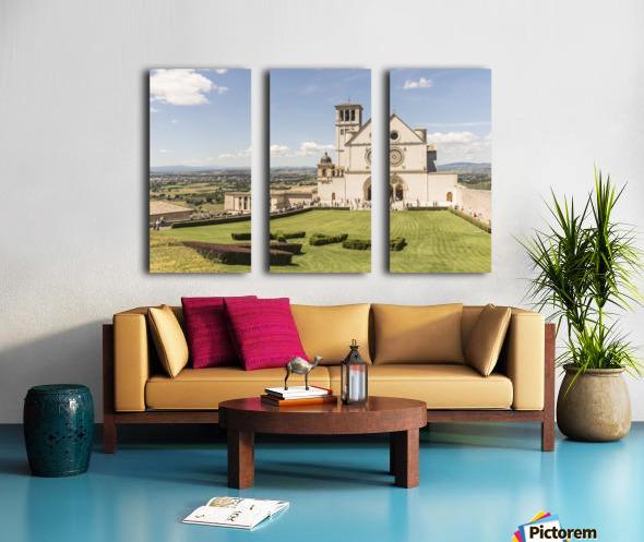 Assisi church Split Canvas print