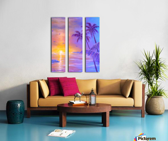Tropical Breeze Split Canvas print