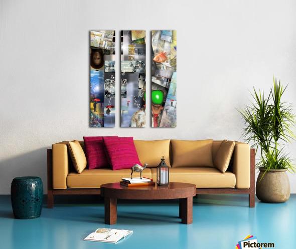 Abstraction Split Canvas print