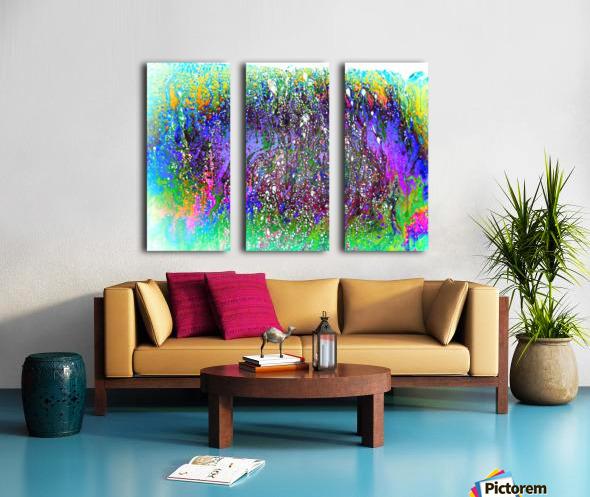 Bubbles Reimagined 61 Split Canvas print