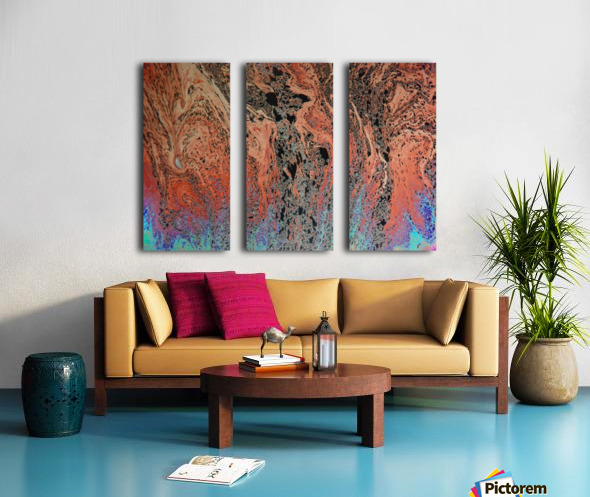 Bubbles Reimagined 19 Split Canvas print