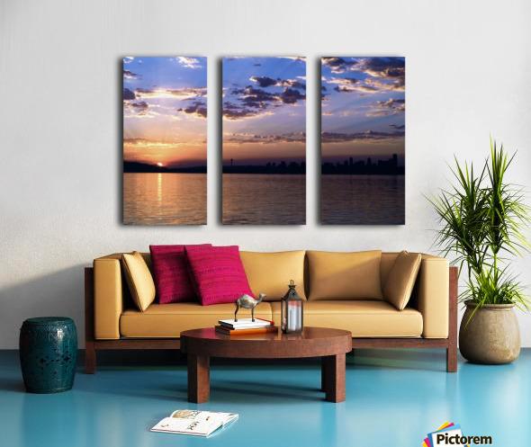 Puget Sound Sunrise Split Canvas print