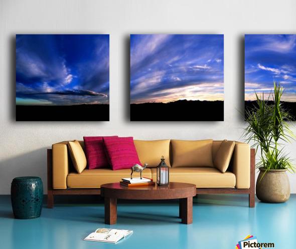 Western Sky Pano Split Canvas print