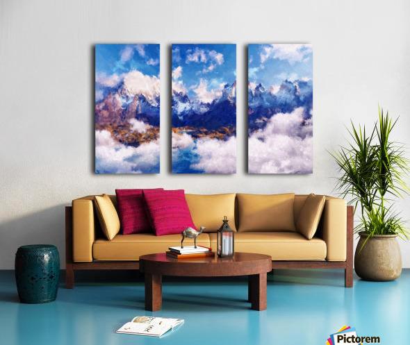 Mountains Artwork II Split Canvas print