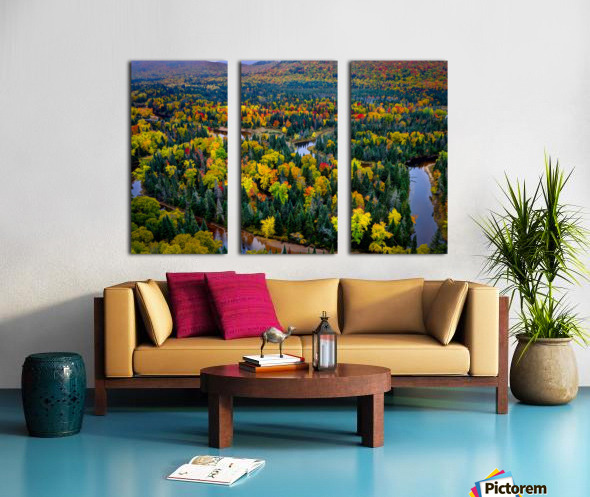 Tremblant Split Canvas print