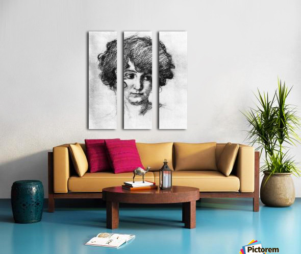 Head of the daughter of the artist, Lorli  by Albin Egger-Lienz Split Canvas print