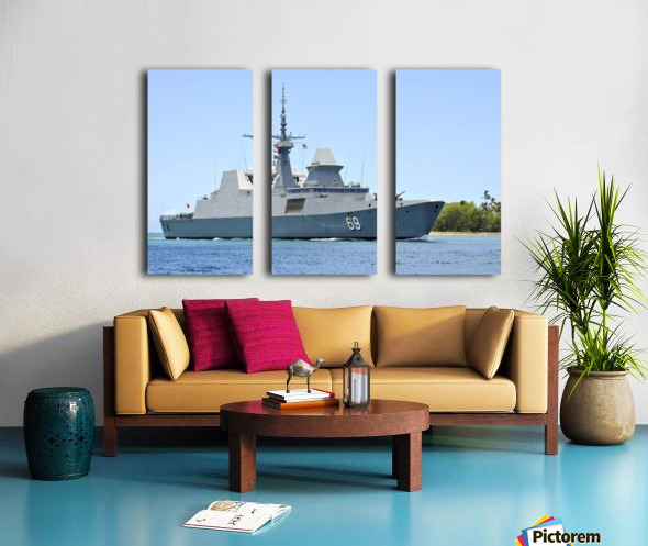 The Singapore frigate RSS Intrepid. Split Canvas print