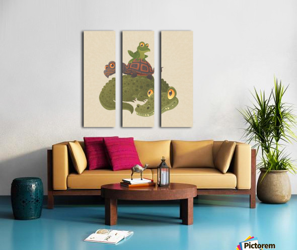 Swamp Squad Split Canvas print