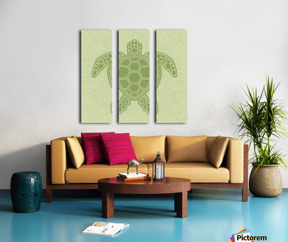 Green Sea Turtle Split Canvas print