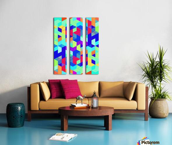 Pattern LXXIX Split Canvas print