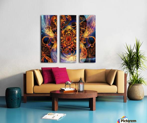 Colorful space Split Canvas print