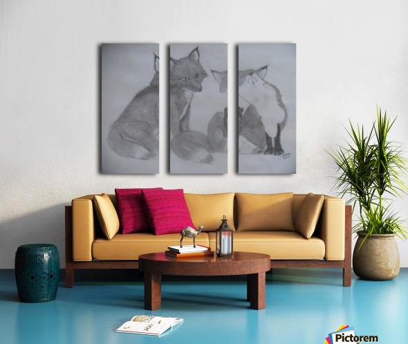 Fox Pair Split Canvas print