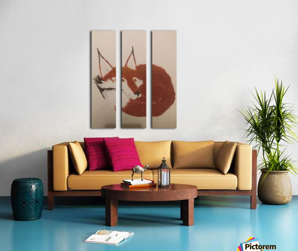Red Fox Split Canvas print