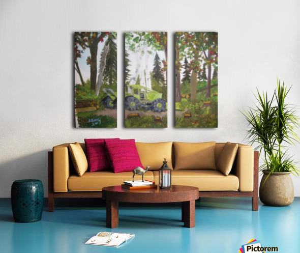 Logging in Maine Woods Split Canvas print