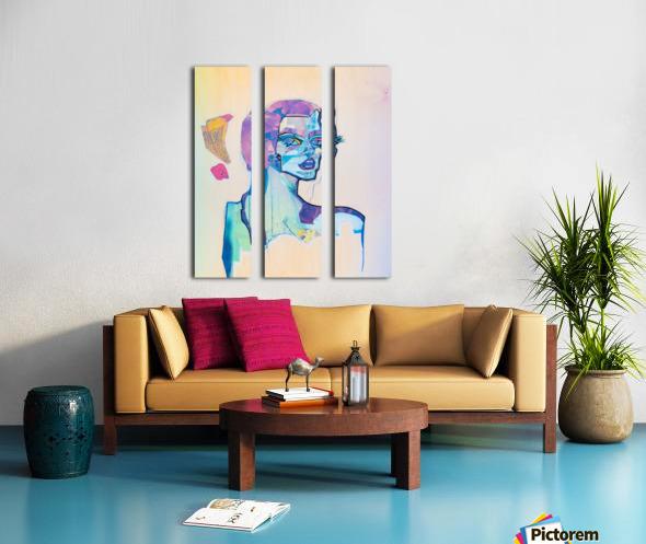 Flux Split Canvas print